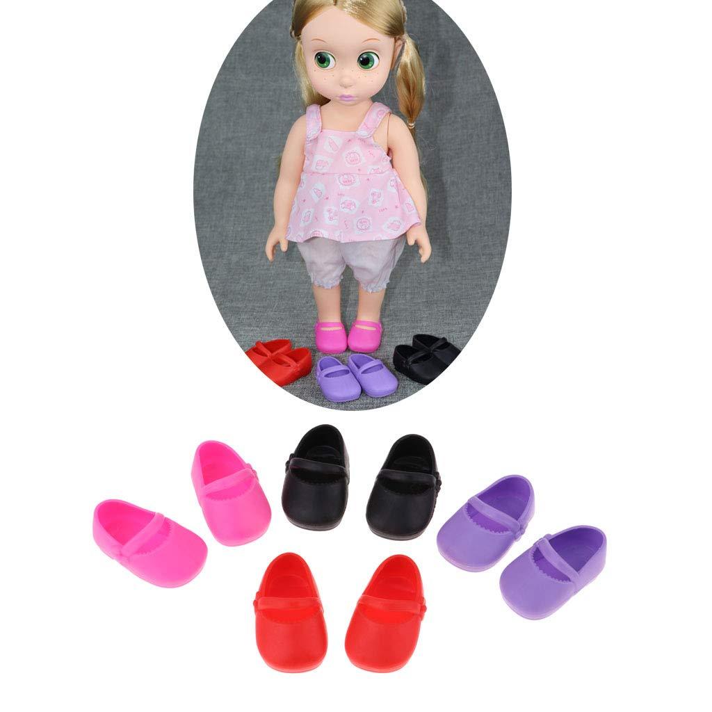 T TOOYFUL 4 Paia di Scarpe Singole per Accessori per lAbbigliamento da Bambole Sharon da 16 Pollici