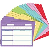 EOOUT 18 Pack Project File Folders with Tabs, Colored File Folders, Manila, Notes File Folders, Letter Size, 6 Assorted Color