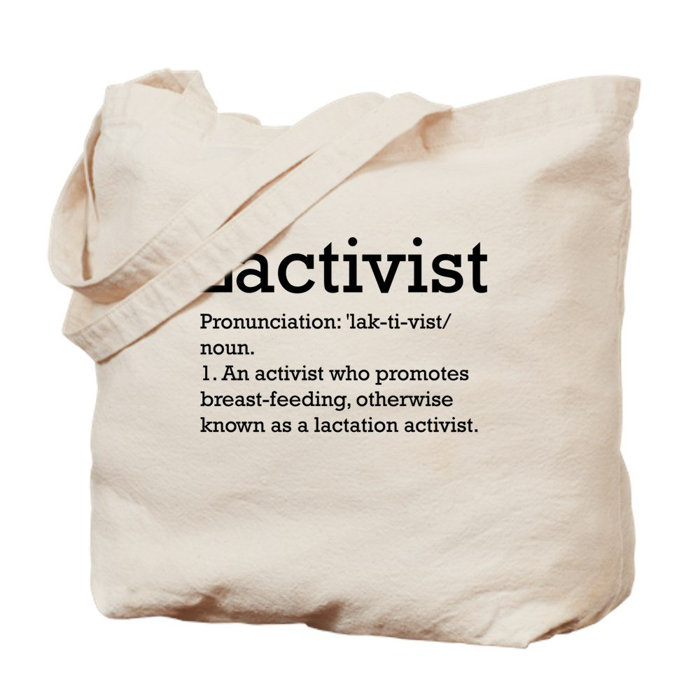 CafePress – Lactivist – 定義 – ナチュラルキャンバストートバッグ、布ショッピングバッグ M ベージュ 00280893556893C B073QT6GLJ MM