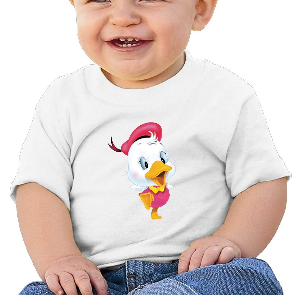 AiguanPink Duck Toddler//Infant Short Sleeve Cotton T Shirts White