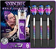 Red Dragon Peter Wright Snakebite 1: 22g - 85% Tungsten Steel Darts with Flights, Shafts