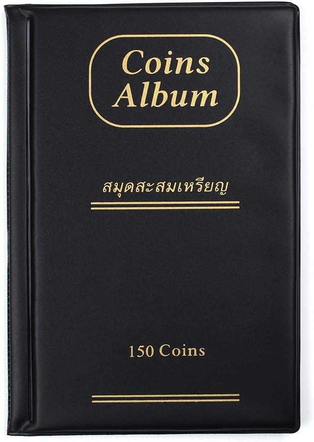 120-Pocket Currency Storage Page Coin Money Album Protector Holder PU Leather