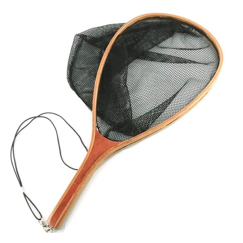 MYHXC Folding Fishing Net Foldable Fish Landing Net Wooden Handle and Safe Fish Catching by MYHXC
