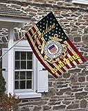 Brotherhood Coast Guard Freedom Isn't Free Decorative House Flag