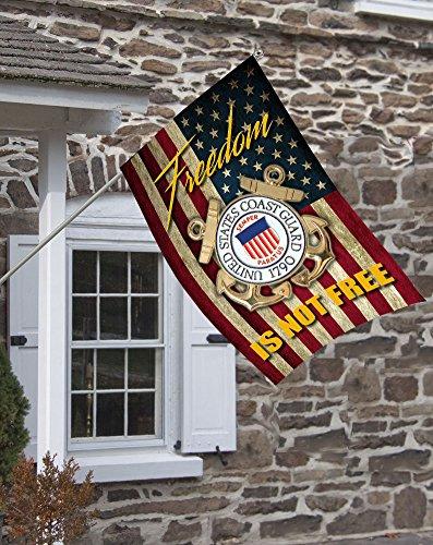 Brotherhood Coast Guard Freedom Isn't Free Decorative House Flag by Brotherhood