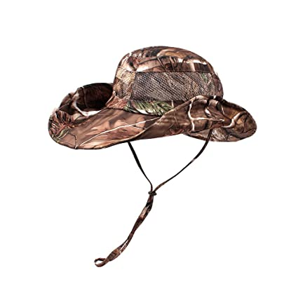 a389365c884 KASULAR Adult Outdoor Boonie Hat Military Camouflage Mesh Bucket Caps  Summer Sun Bonnet UV Protection for