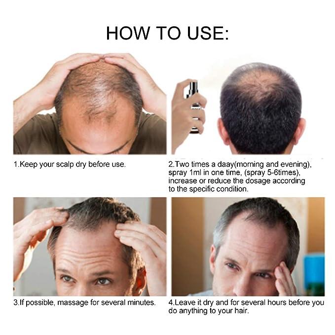 Aceite para Crecimiento del Cabello, Pelo profesional Corrector para adelgazamiento del cabello Aerosol para el cabello con aplicador de spray para la ...