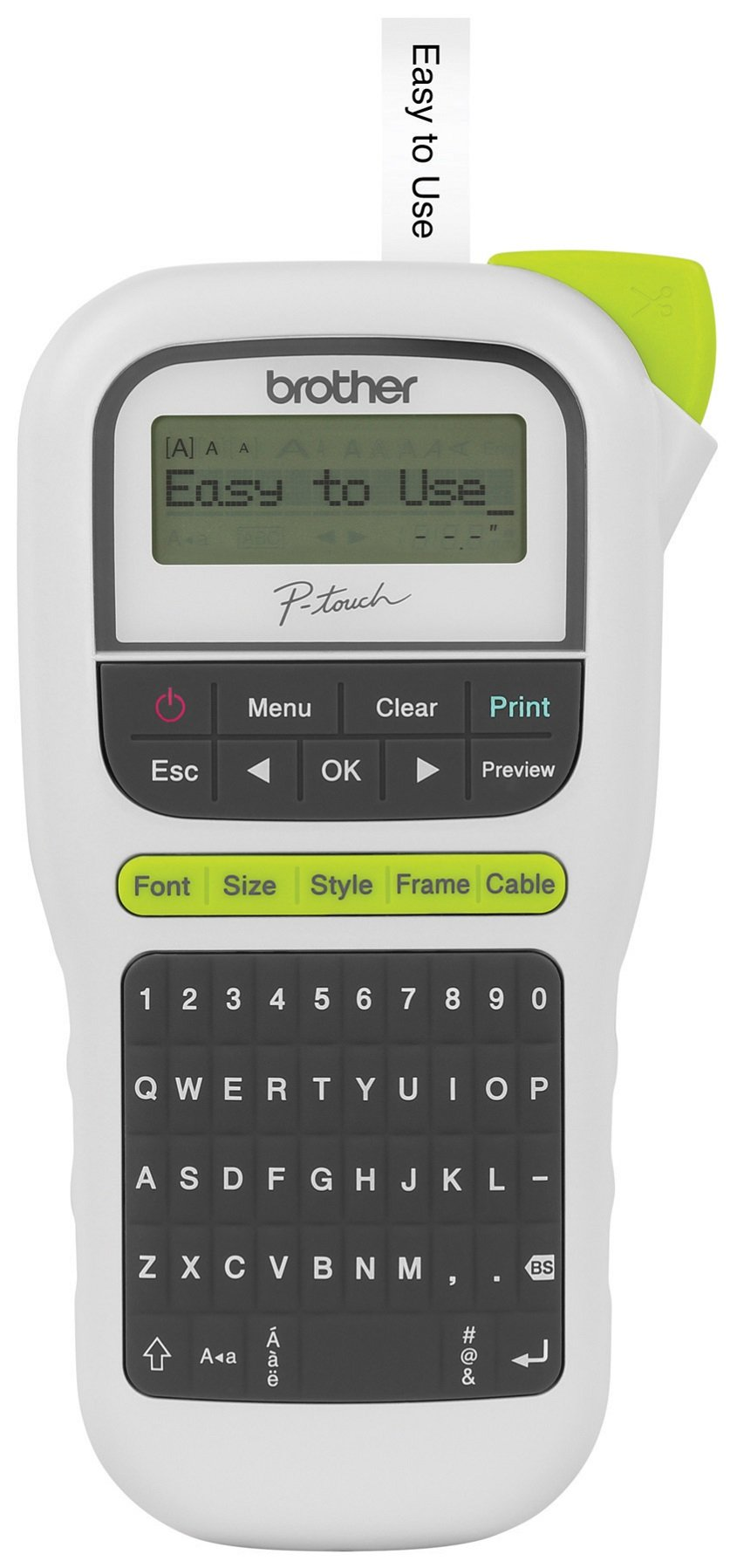 Brother P-touch, PTH110, Easy Portable Label Maker, Lightweight, QWERTY Keyboard, One-Touch Keys, White by Brother
