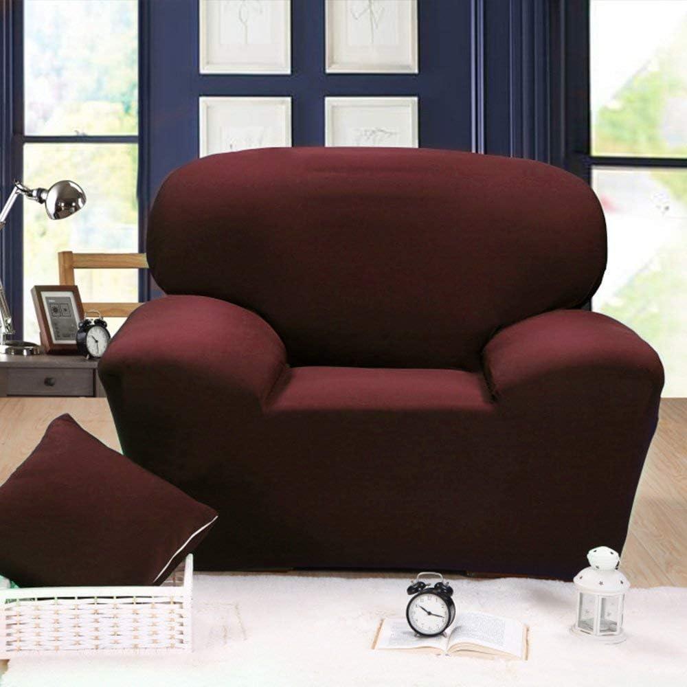 Three Seater Home Comfort Copridivano 1 2 3 4 Posti Copridivano Copridivano Tessuto Elastico Protettore Divano Rosso vinaccia