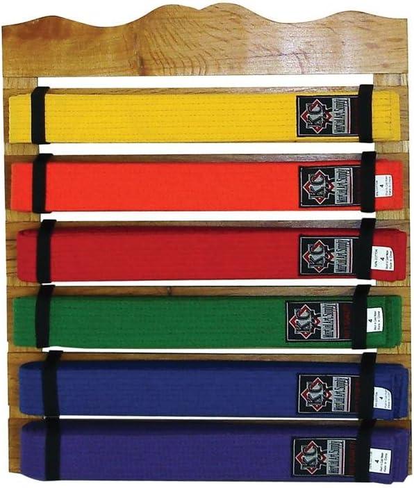 New! KidKraft Martial Arts Wooden Belt Holder Hanging Display for 8 Belts