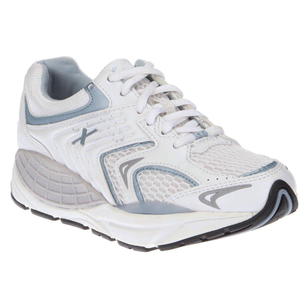 Xelero Matrix Women's Comfort Therapeutic Extra Depth Sneaker Shoe: White/Blue 8.5 X-Wide (2E) Lace