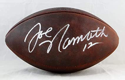 new arrival c04ed 159b3 Joe Namath Autographed NFL Duke Authentic Football- JSA W ...