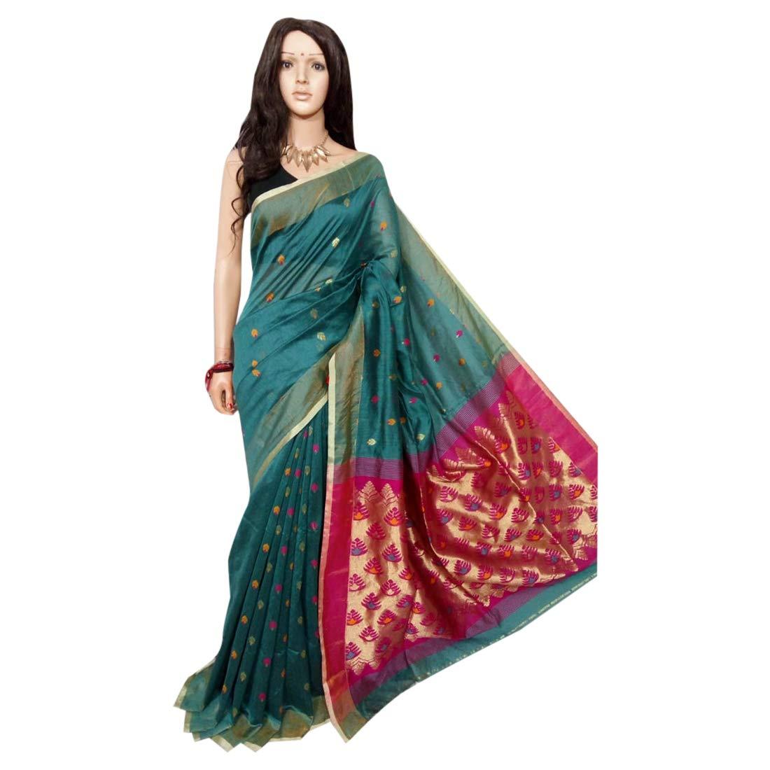 Indian Saree Ethnic dhakai jamdani Designer Collection Sari Party Formal Women Wear 105a