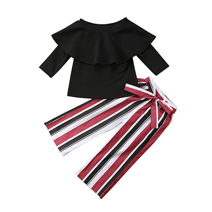 Wang-RX Conjunto Infantil Moda Bebé Niños Niñas Fuera del ...
