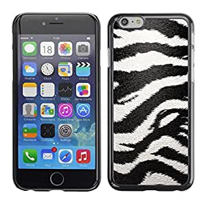 Soft Silicone Rubber Case Hard Cover Protective Accessory Compatible with Apple iPhone? 6 (4.7 Inch) - zebra pattern art black white stripes