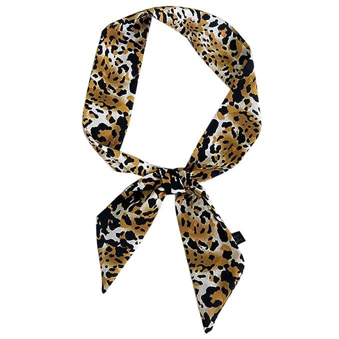 S-TROUBLE 5x90cm Mujer Leopardo Impreso Chifón Pequeño Pañuelo ...