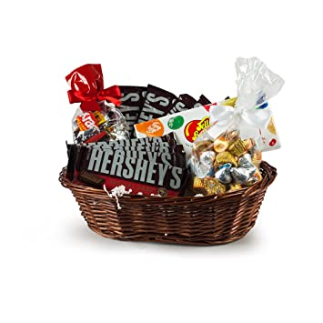 Amazon.com : Hershey's Jelly Belly 2.5 lb. Gift Basket - Hershey ...