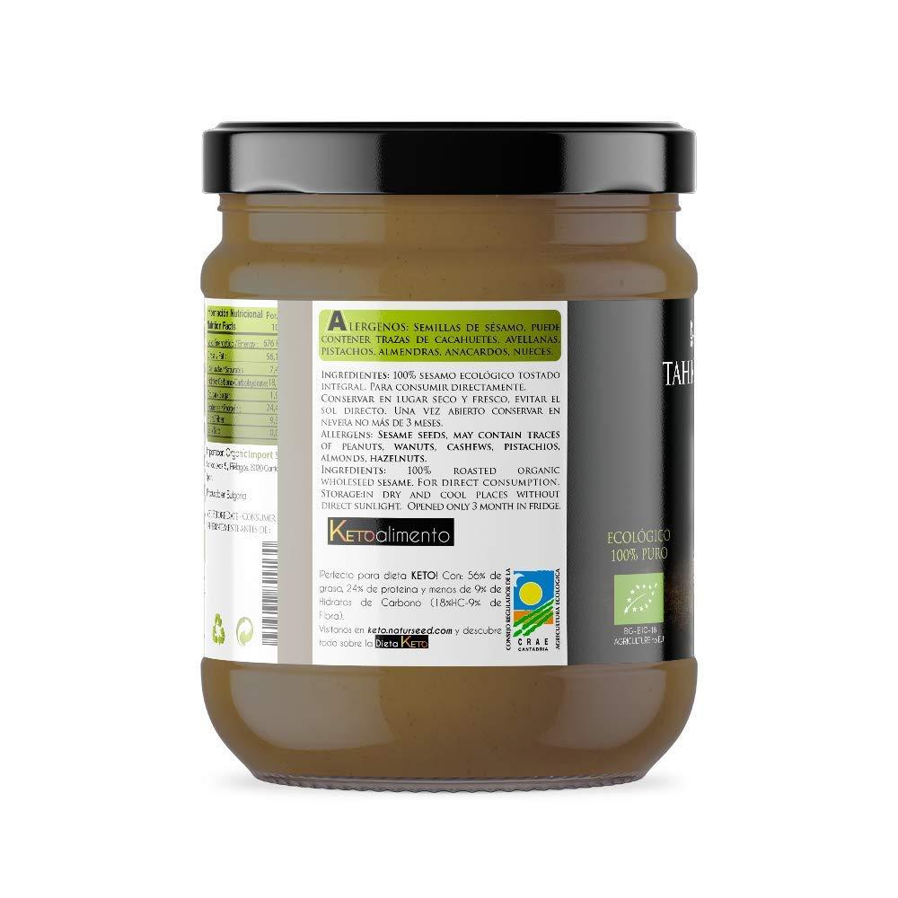 Naturseed Tahini Pasta de Sésamo Ecologico, Bio - Raw, Salsa Sin ...