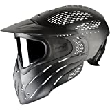 JT Premise Goggle Premise Headshield Paintball Goggle/Single Pane, Clear Lens, Black, One Size