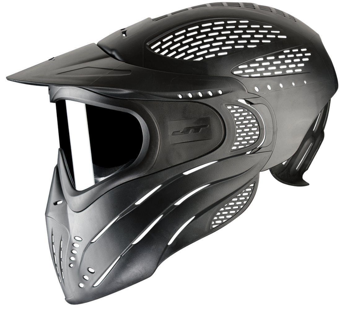 JT Premise Headshield Paintball Goggle Single Pane & Clear Lens, Black, One Size