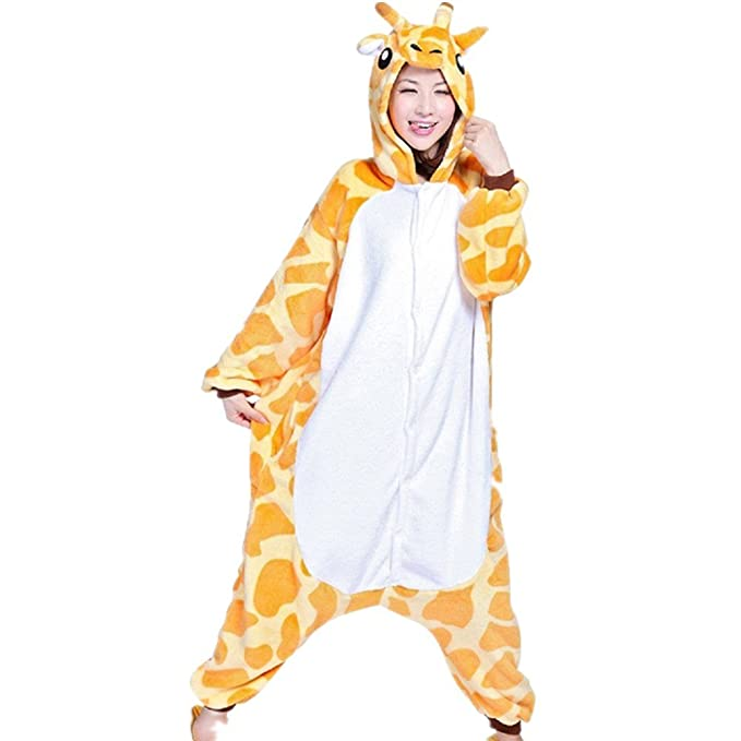 Misslight pijama o disfraz de unicornio unisex para niño o adulto jirafa Small