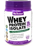 Bluebonnet Nutrition Whey Protein Isolate Powder, Whey from Grass Fed Cows, 26 Grams of Protein, No Sugar Added, Non GMO…