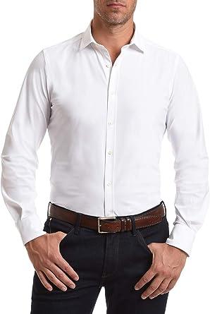Wave Futura - Camisa de Hombre New York: Tejido técnico, Slim Fit, no se Plancha y no se Arruga: Amazon.es: Ropa y accesorios