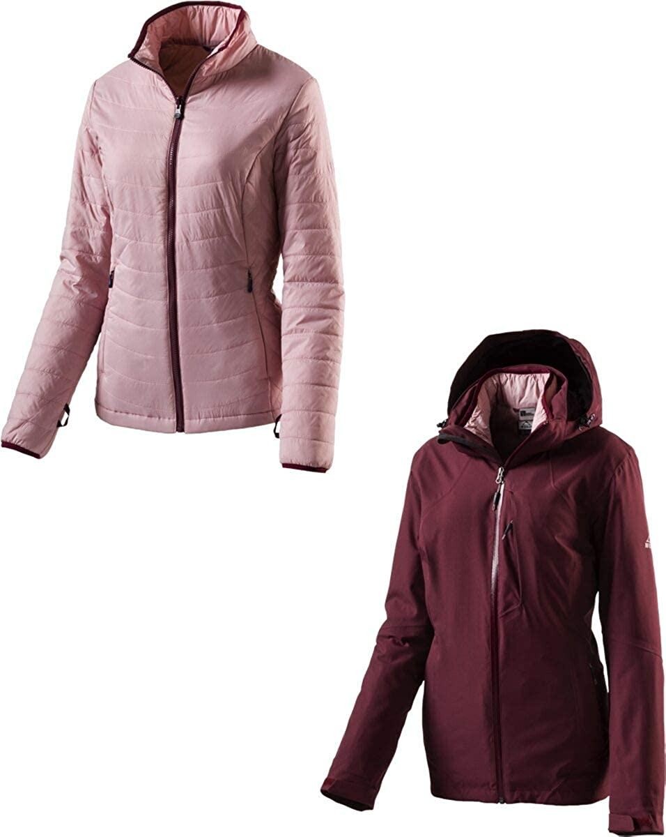 Red Wine pink Dark 38 McKinley Women's Anja Double Jacket