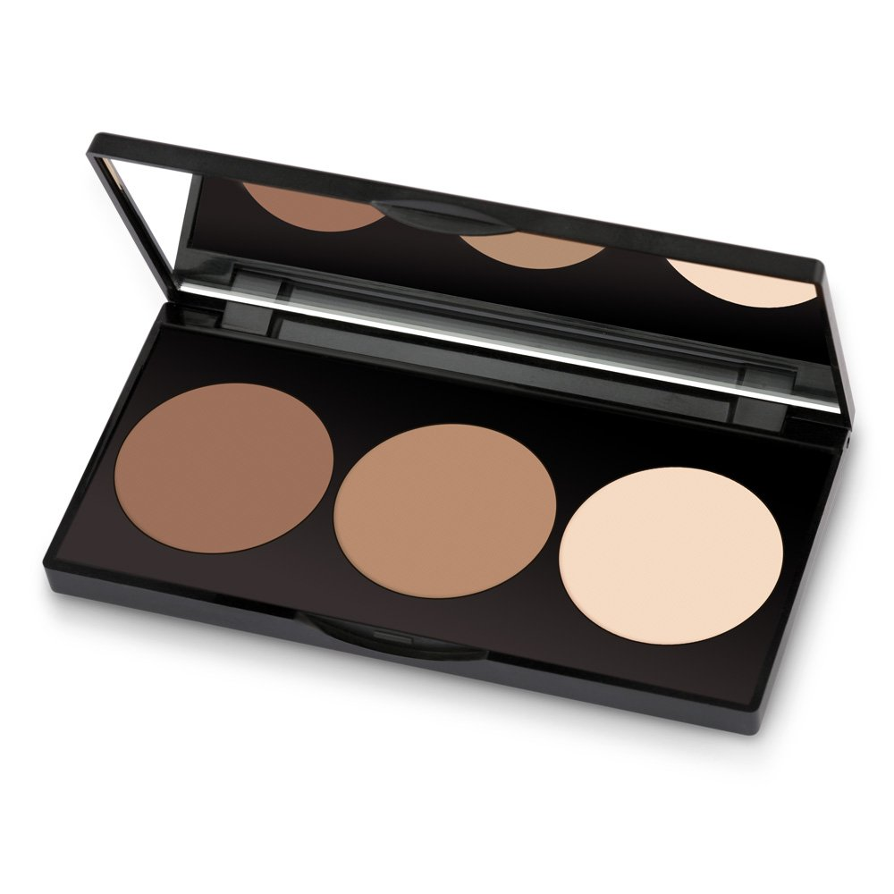 Golden Rose Long Lasting Matte Powder Contour Kit - Highlight, Bronze, Contour Set Makeup Palette