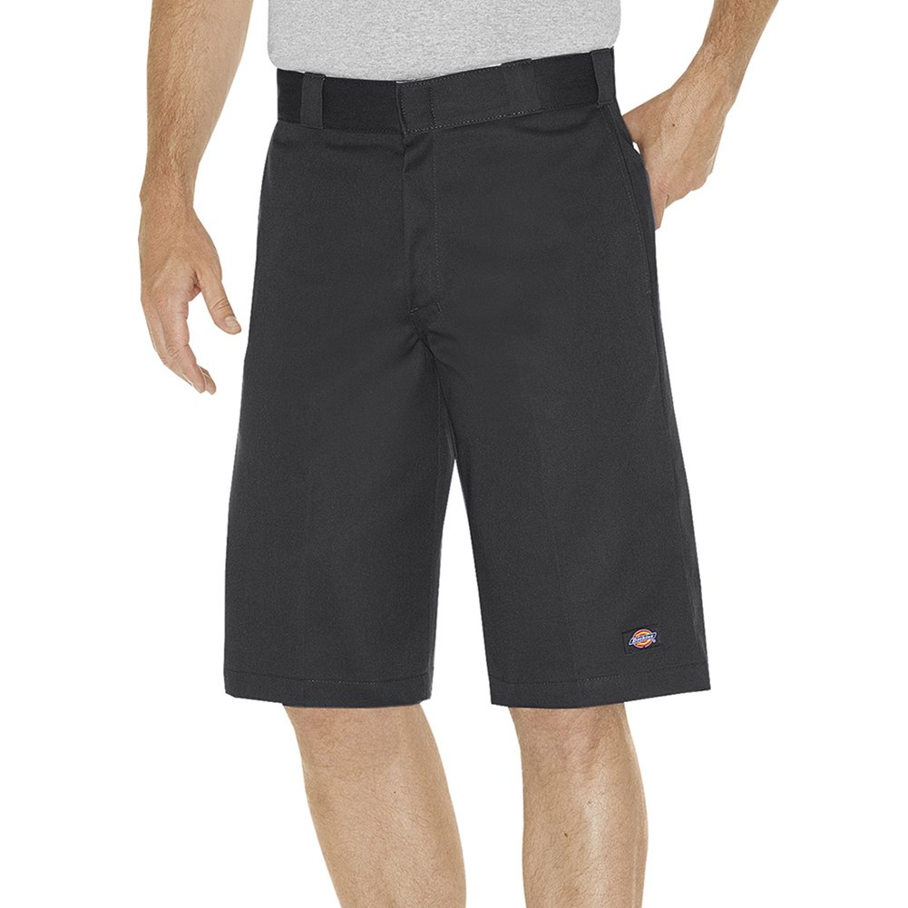 Dickies Men's 13 inch Flex Relaxed Fit Multi-Pocket Work Short Big, Black, 48