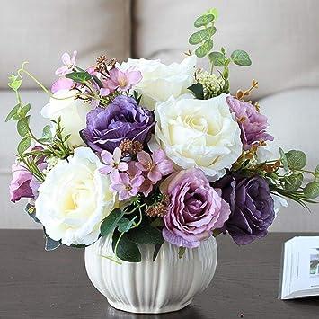 Bouquet De Roses Artificielles Violettes-40 cm