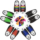 MIRX Cordones elásticos planos del zapato del silicón, ningunos ...
