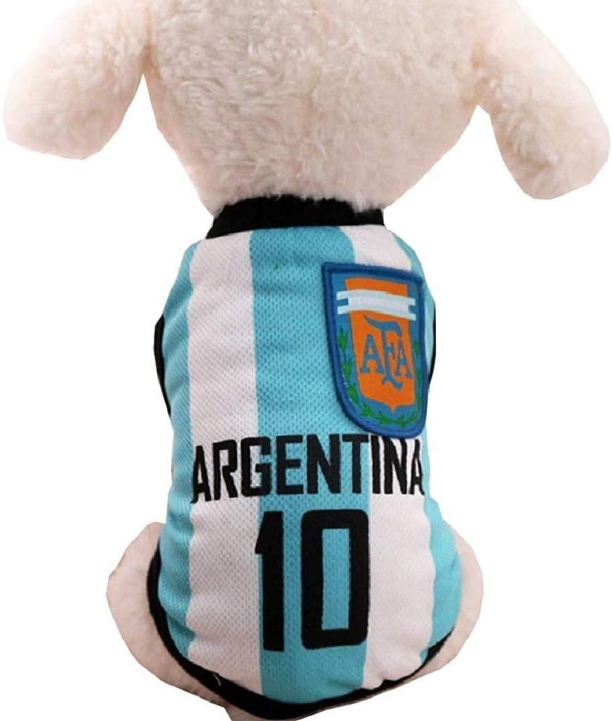 Taglia M Travestimento Cosplay Ottimo Come Regalo EVRYLON Costume Tifoso per Animali Squadra Calcio Microbista Ultr/à Argentina per Cane