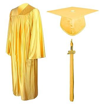 c924f9da78 GraduationMall Shiny Graduation Gown Cap Tassel Set 2019 For High School  Gold 39(4