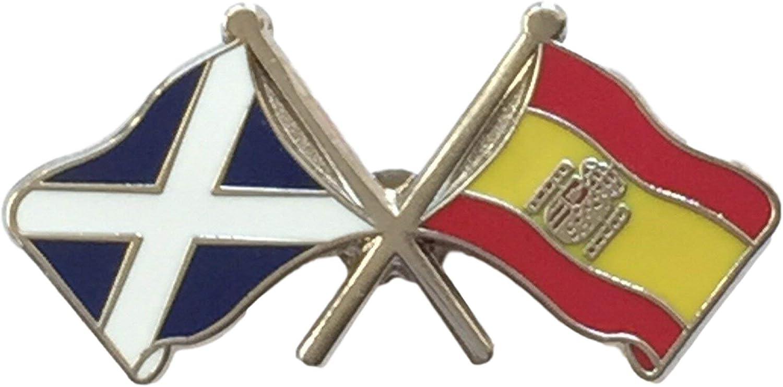 España Bandera & Bandera De Escocia Amistad Perno De Cortesía Insignia: Amazon.es: Hogar