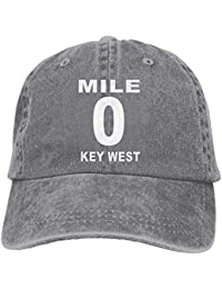 9b4f99d32f0 Mile 0 Key West Plain Adjustable Cowboy Cap Denim Hat for Women and Men