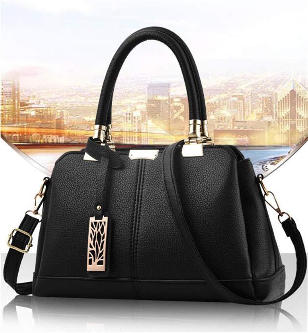 Amazon.com  WEYIIRG Leather Women Bag Tree Branches Metal Decor Handbags  Lady Shoulder Crossbody Messenger Bag Female Purse Tote Black 31x14x19cm   Sports   ... 1e1fe87e7488f