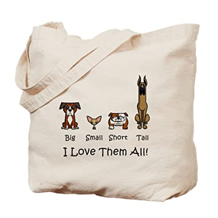 8e3f1dc1003 CafePress - Dog Lover - Natural Canvas Tote Bag, Cloth Shopping Bag