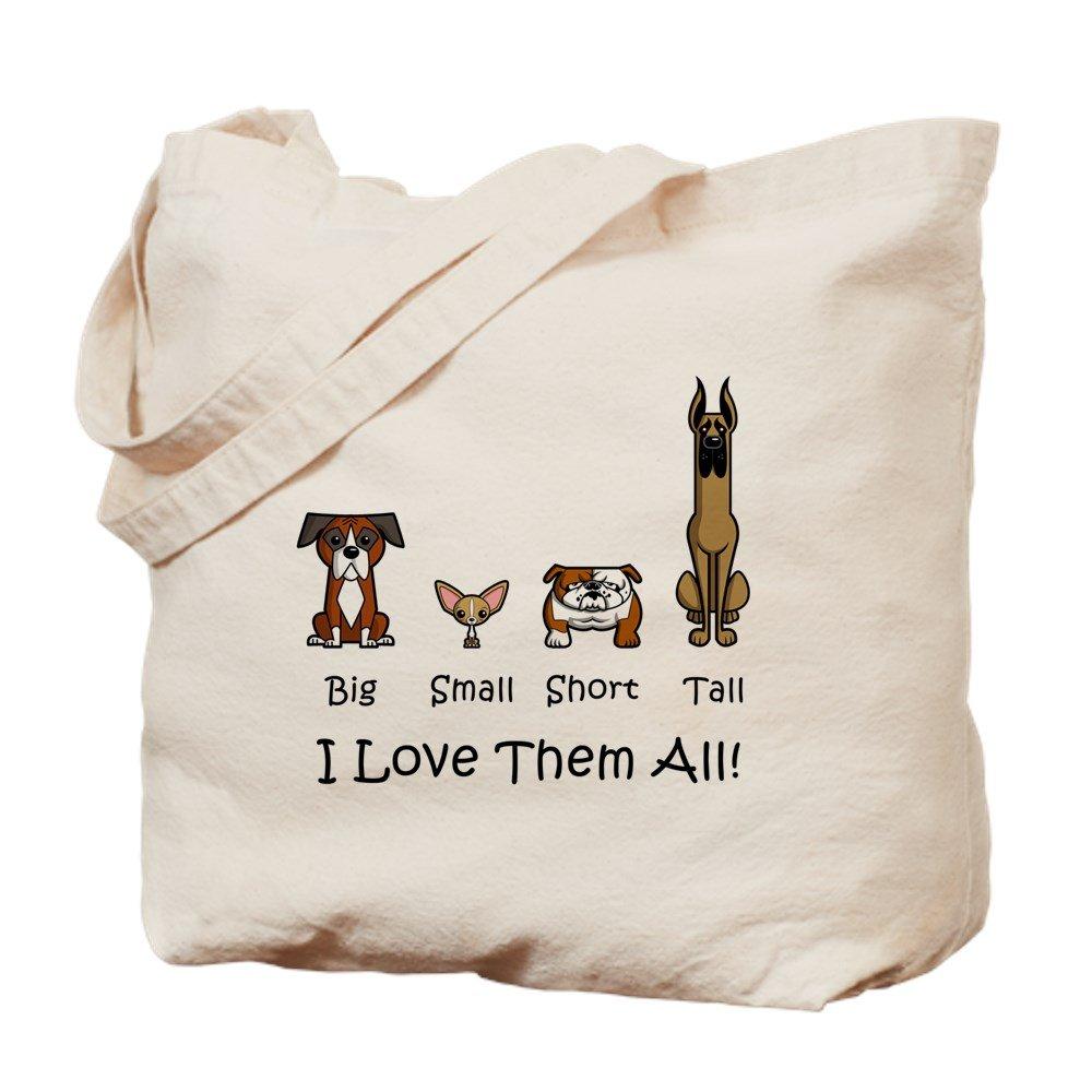 CafePress - Dog Lover - Natural Canvas Tote Bag, Cloth Shopping Bag