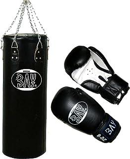 Leder Damen Herren Vollkontakt Boxen Kickboxen Muay Thai Thaiboxen MMA K1 K-1 Boxhandschuh Glover BAY/® Future Boxhandschuhe Training Sparring 18 Unzen UZ OZ Box-Handschuhe PU schwarz//wei/ß
