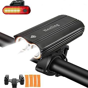 JSTH Luci Bicicletta Luce Bici Ricaricabili USB,Luce Bici LED con 400 Lumen /& Impermeabile IPX5,Luci per Bicicletta con 5 modalit/à di Illuminazione per Bici Strada e Montagna