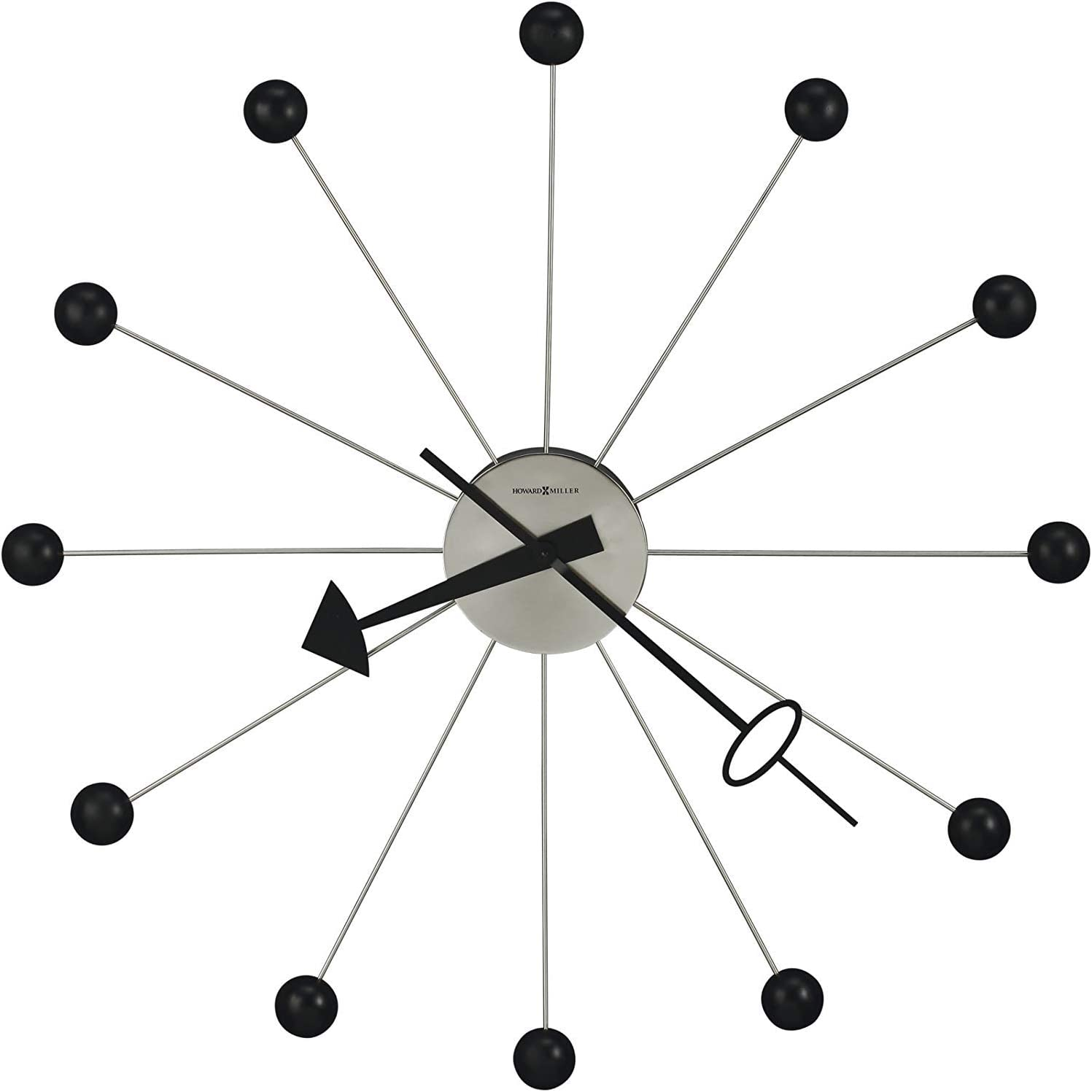Howard Miller Ball Wall Clock II 625-527 – Oversized Retro Classic with Quartz Movement