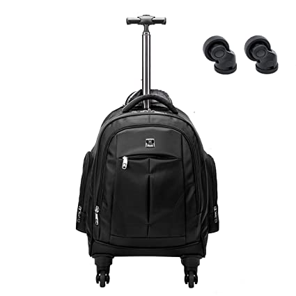 4716a0aa2 Image Unavailable. Image not available for. Color: Racini Business Travel Nylon  Waterproof Rolling Backpack ...