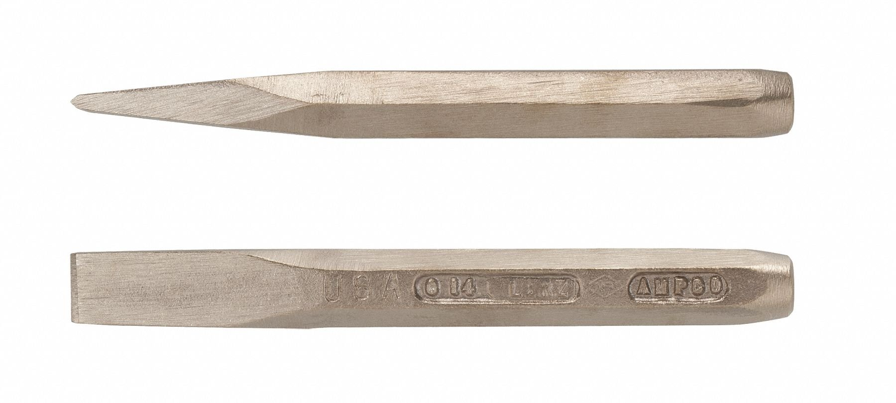 Ampco Safety Tools C-18 Chisel with Hand, Non-Sparking, Non-Magnetic, Corrosion Resistant, 1-1/16'', 9-1/4'' OAL
