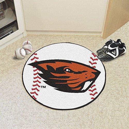 - Fanmats Home decorative Accessories Oregon State University Collage Sports Team Logo Baseball Shape Design Floor Mat