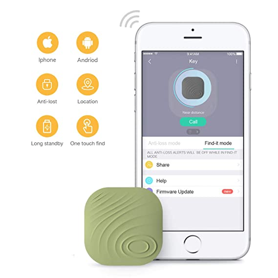 famisafe Key Finder, Nut 3 Phone Finder Anti-Lost Bluetooth Llavero, Billetera, Bolsillo de Control de Aplicaciones, Compatible con iOS y Android ...