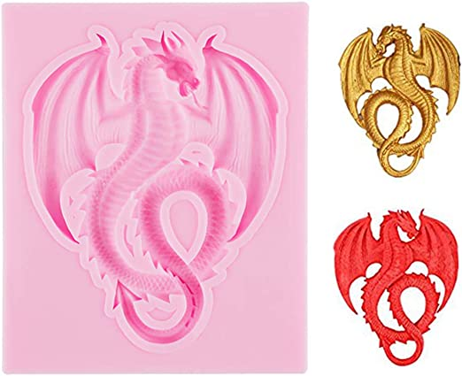 3D Dragon Fondant Silicone Mold Decorating Tool Baking Chocolate Soap Cake Mould