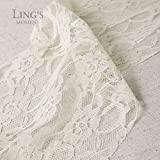Ling's moment Cream Lace Fabric Roll 12 Inch x 24