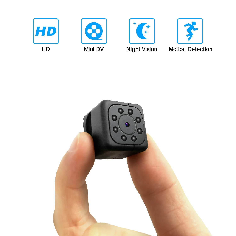 Spy Mini Cameras Spy Hidden Camera HD 1080P Small Portable Home Security Surveillance Camera Nanny Cam Night Vision/Motion Detection Hidden Video Recorder Outdoor/Indoor Smallest Spy Cam(No Wi-Fi)