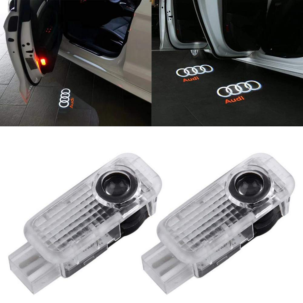 2 unidades OTUAYAUTO iluminaci/ón de puerta Proyector LED de bienvenida para coche proyecci/ón de logotipo